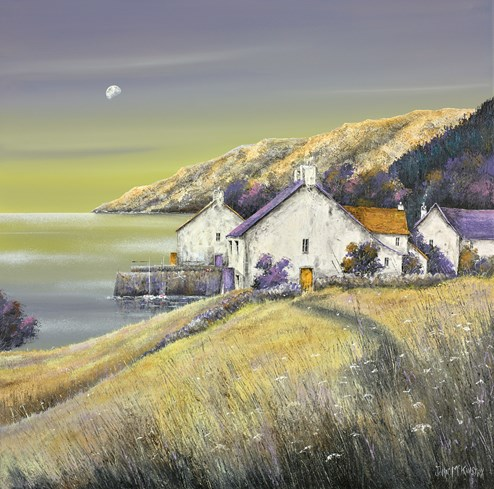 Dawn Cove by John Mckinstry - Original Painting on Stretched Canvas